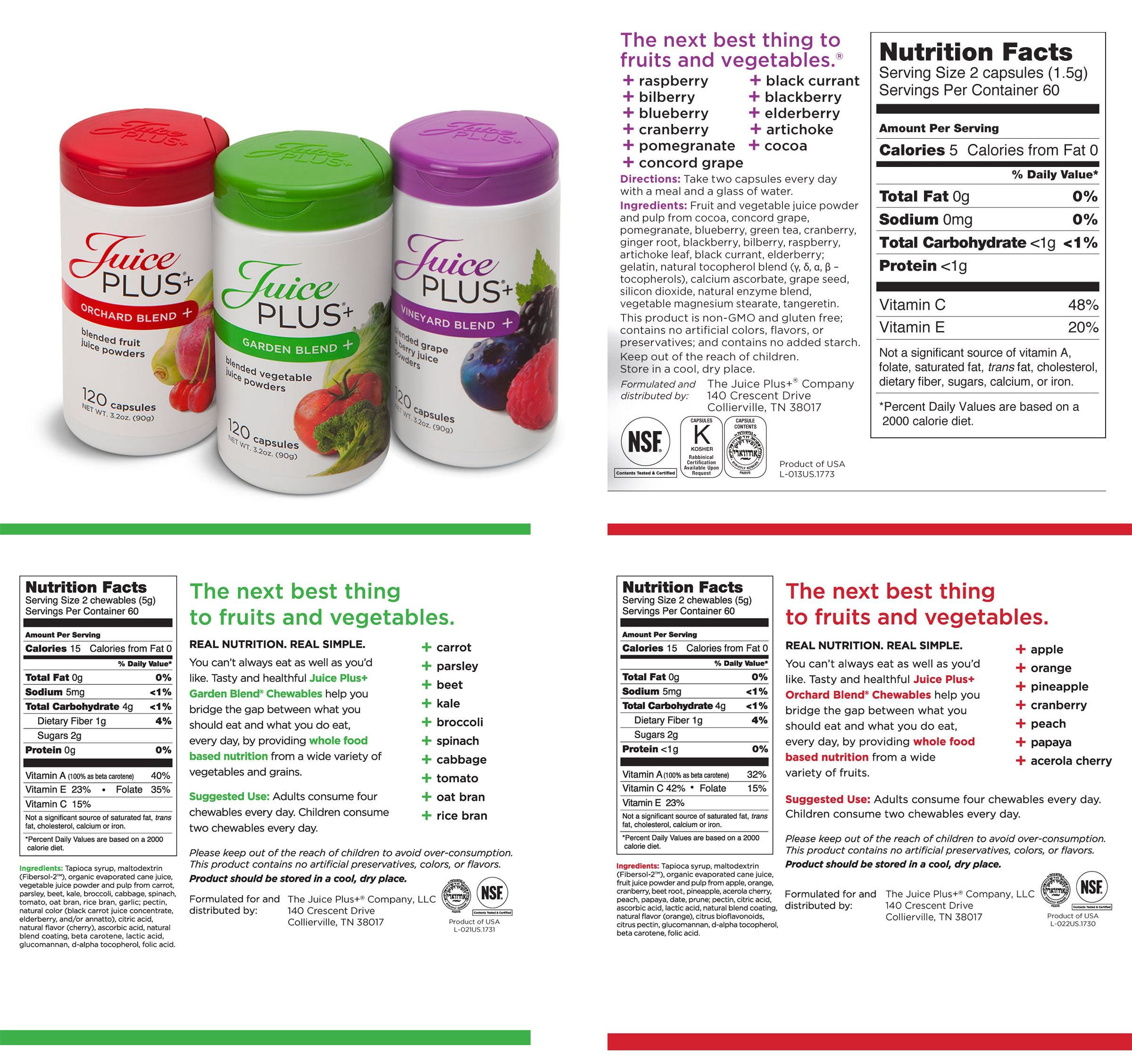 Juice Plus Trio - Orchard, Garden and Berry: provide added ...