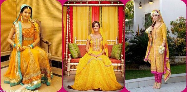 4eeb04d67f Beautiful Stylish Mehndi Bridal Wedding Dresses Collection | DRESSES ...