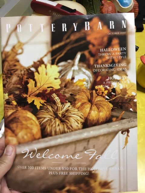 Pottery Barn 2010 Fall Thanksgiving Halloween Kids Catalogs Lot of 3 - halloween catalog