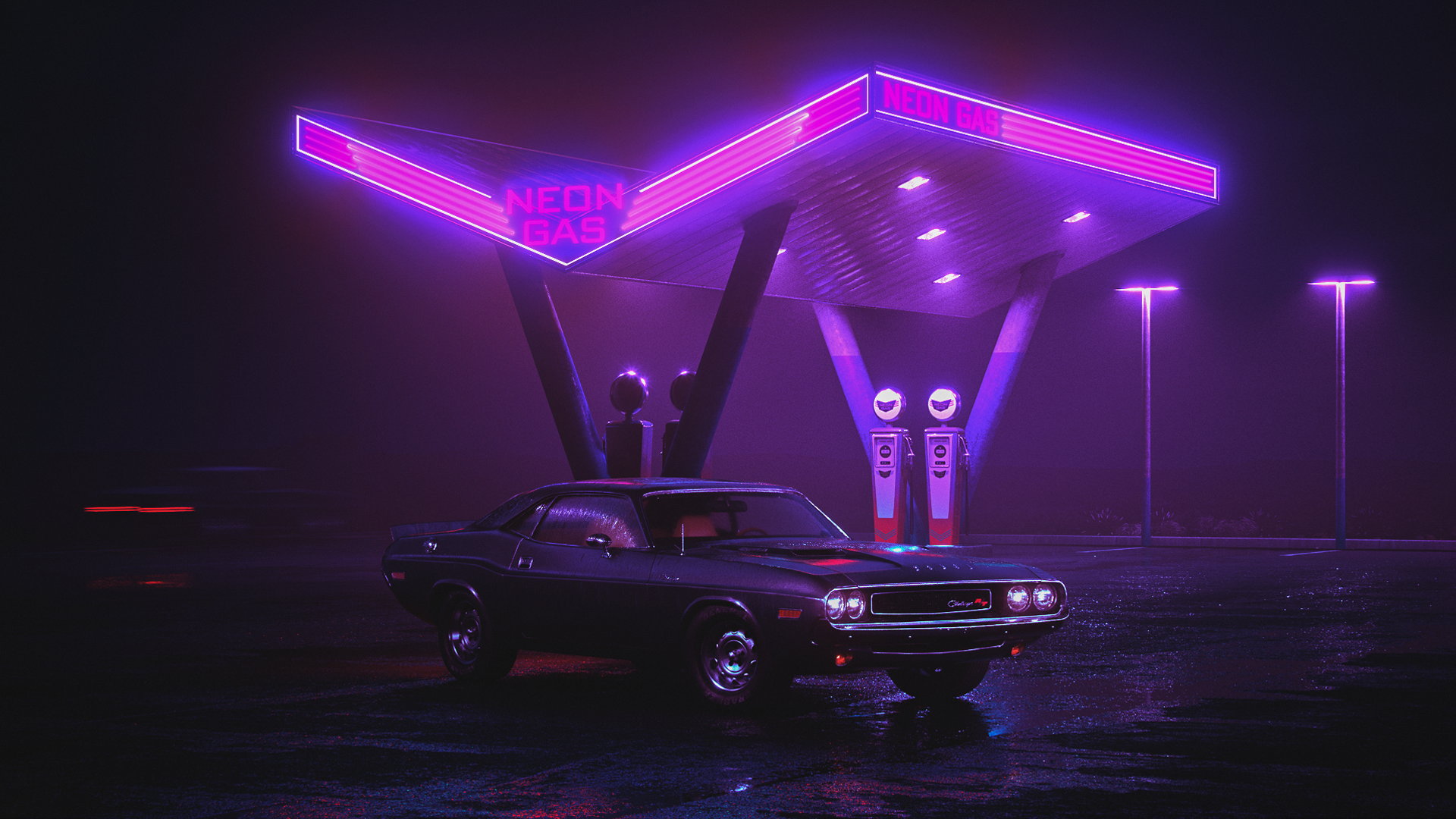 Pin By Z Qy On Geroi Neon Gas Retro Waves Neon Wallpaper