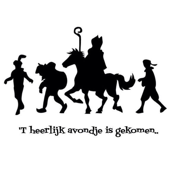 Paard Zittend Kleurplaat T Heerlijk Avondje Is Gekomen Sinterklaas Knutselen