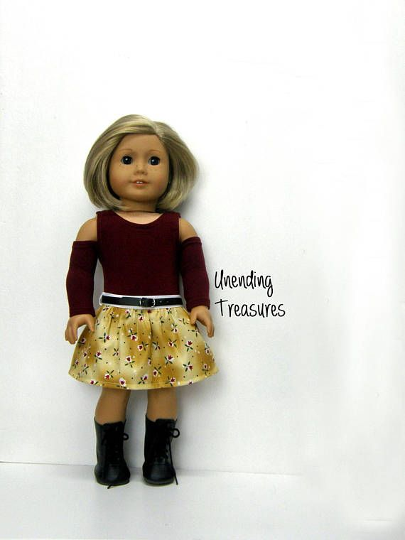 d1e457fdf8d 18 inch doll clothes burgundy cold shoulder tunic top and | American ...