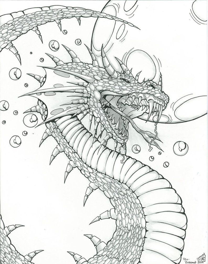 Dragon art designs dragon design for fantasy art by for Mythical coloring pages for adults