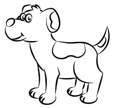 Pin By Light On Colouring Cartoon Dog Drawing, Animal Drawings, Dog  Outline