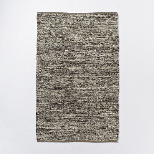 West Elm Bello Rug: Sweater Wool Rug - Charcoal