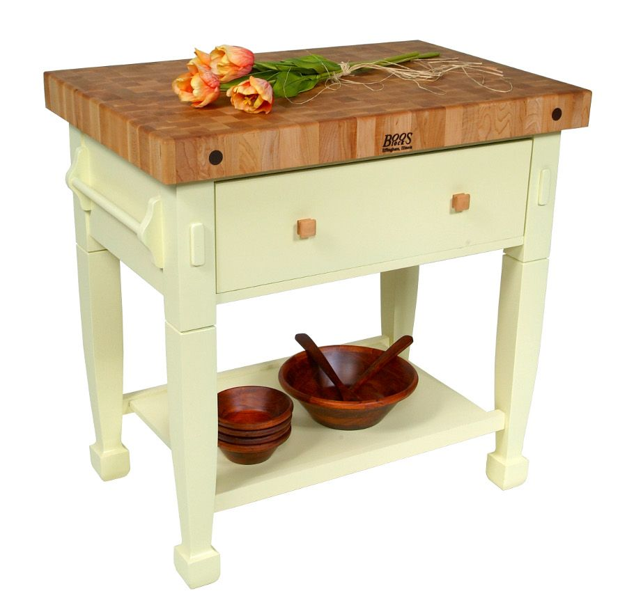 $939 Jasmine Butcher Block Table in Buttercup Yellow John Boos via ...