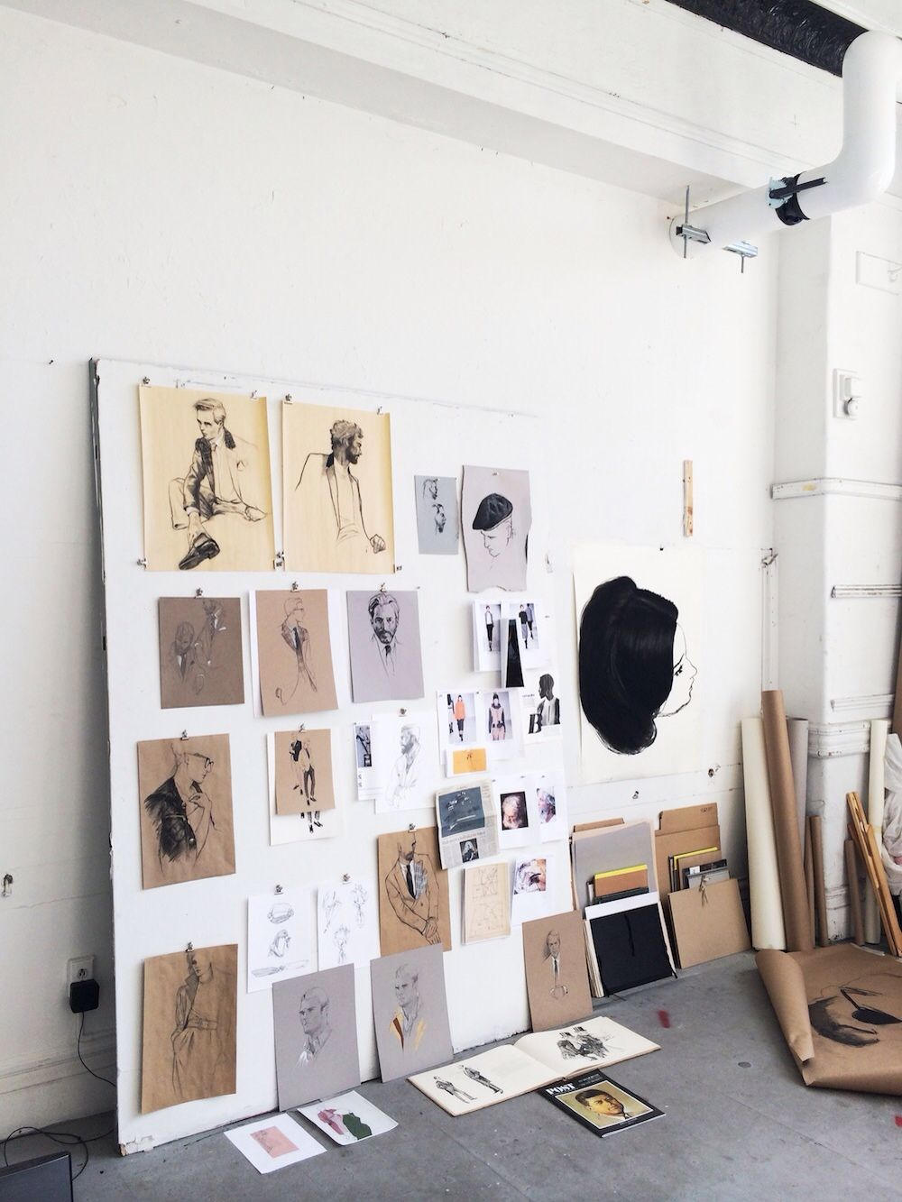 A dreamy workplace artists life aesthetics drawing for Casa minimalista dwg