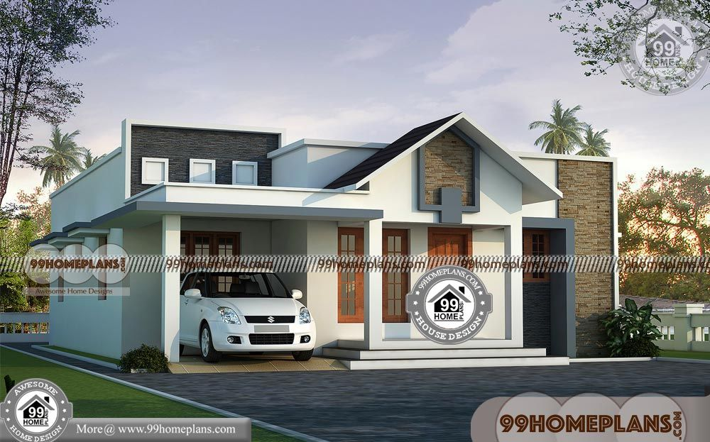 Duplex House Plans With South Indian Single Floor House Plans Low Cost Housing Floor Pla Kerala House Design Simple House Design Small House Elevation Design