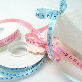 Baby shower gift ribbon