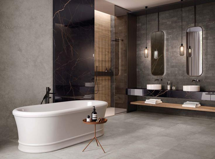 Modernes Badezimmer Im Minimalistischen Betonlook Fliesen Beton