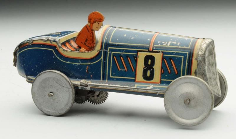 Lot 691 French Tin Litho Wind Up Race Car Antique Toys Hobby Toys Vintage Toys