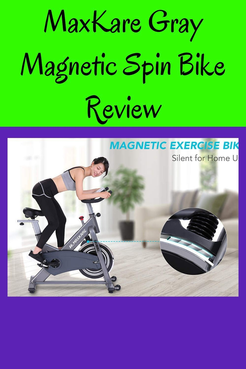 Maxkare Gray Magnetic Spin Bike Review In 2020 Spin Bike Reviews Spin Bikes Bike