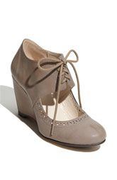 Oxford Wedges. I want these so bad!