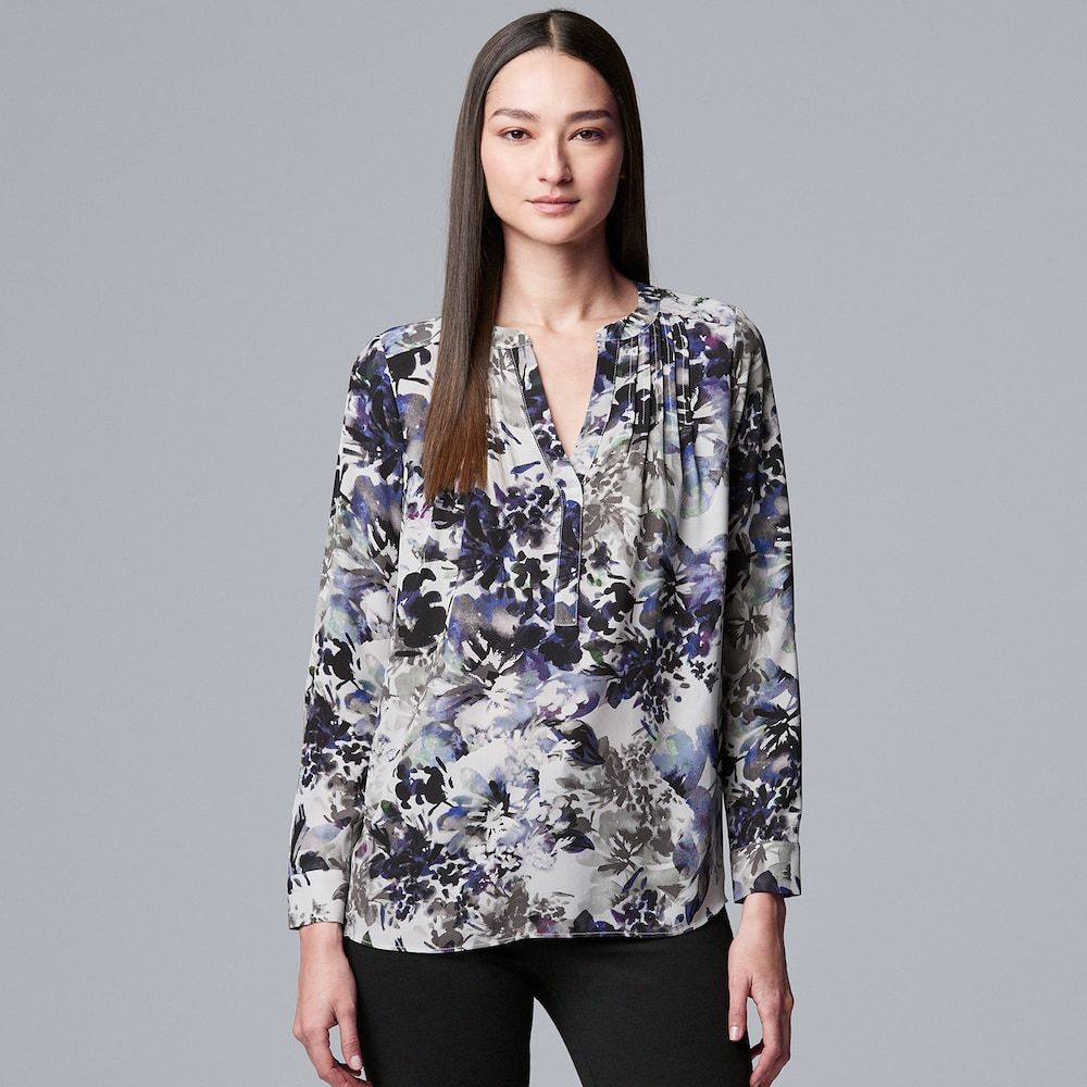 Womens Tie Neck Top Simply Be