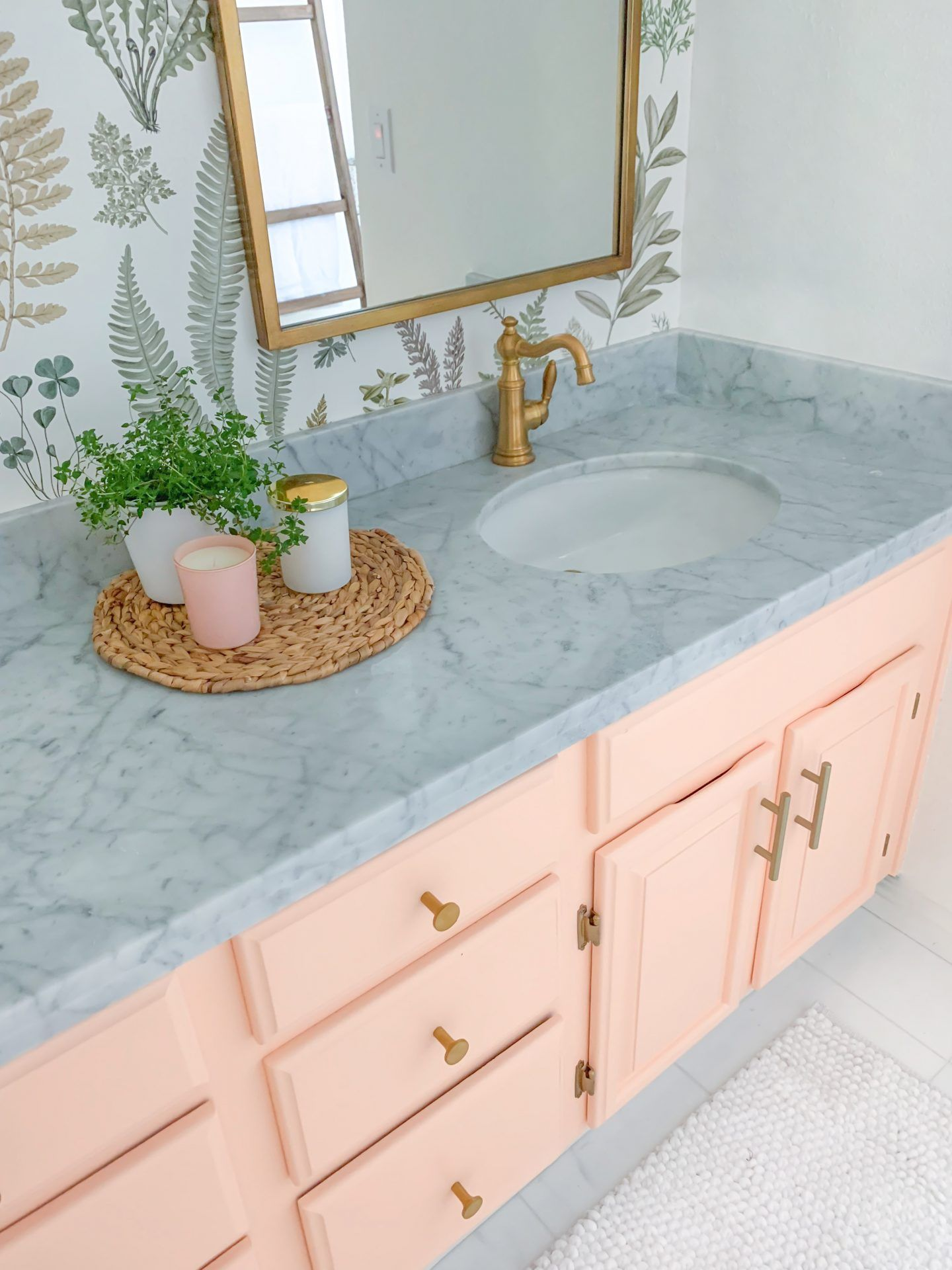Floral Bathroom Remodel REVEAL  Lombard and Fifth  Girls