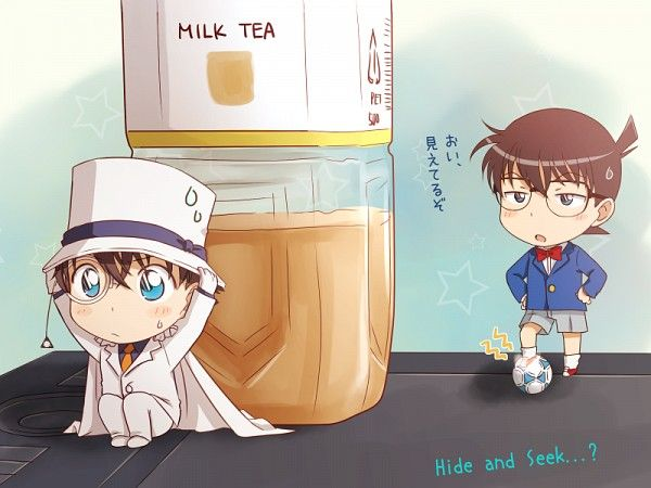 Tags: Anime, Wallpaper, Detective Conan, Edogawa Conan, Kaitou Kid