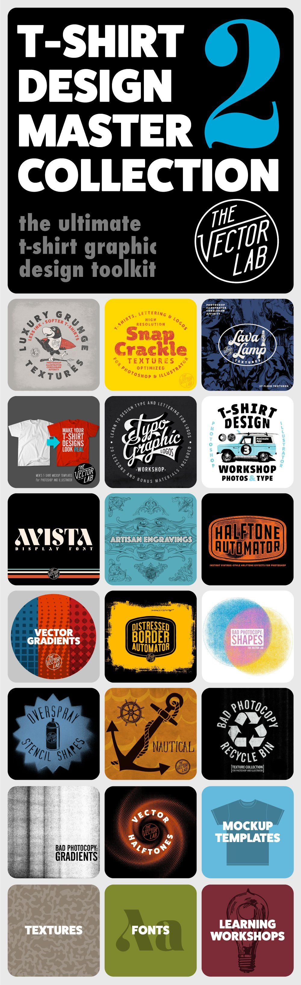 a7811c9fa T-Shirt Design Master Collection 2 - for Photoshop and Illustrator