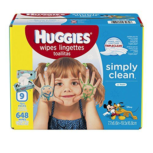 Huggies Simply Clean Baby Wipes Fresh Scent Soft Pack 648 Ct