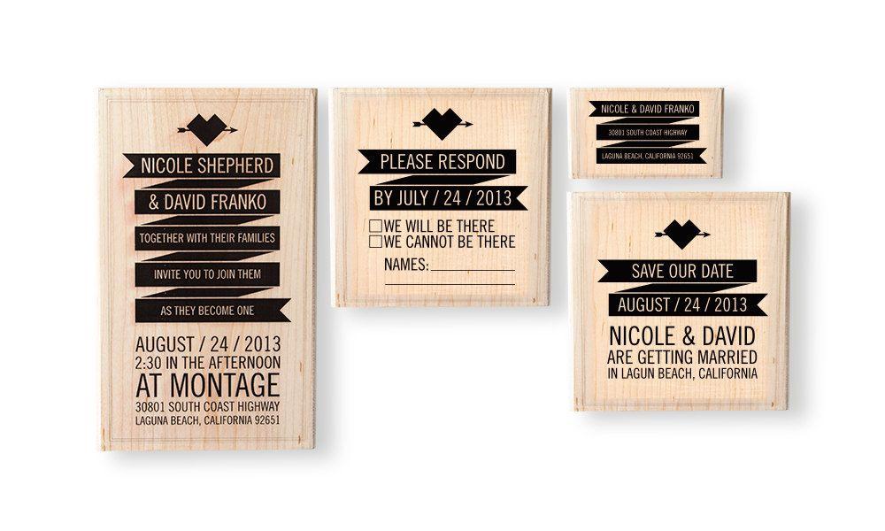 Banner Wedding Invitation Stamp Set by SparkVites on Etsy   STDs ...