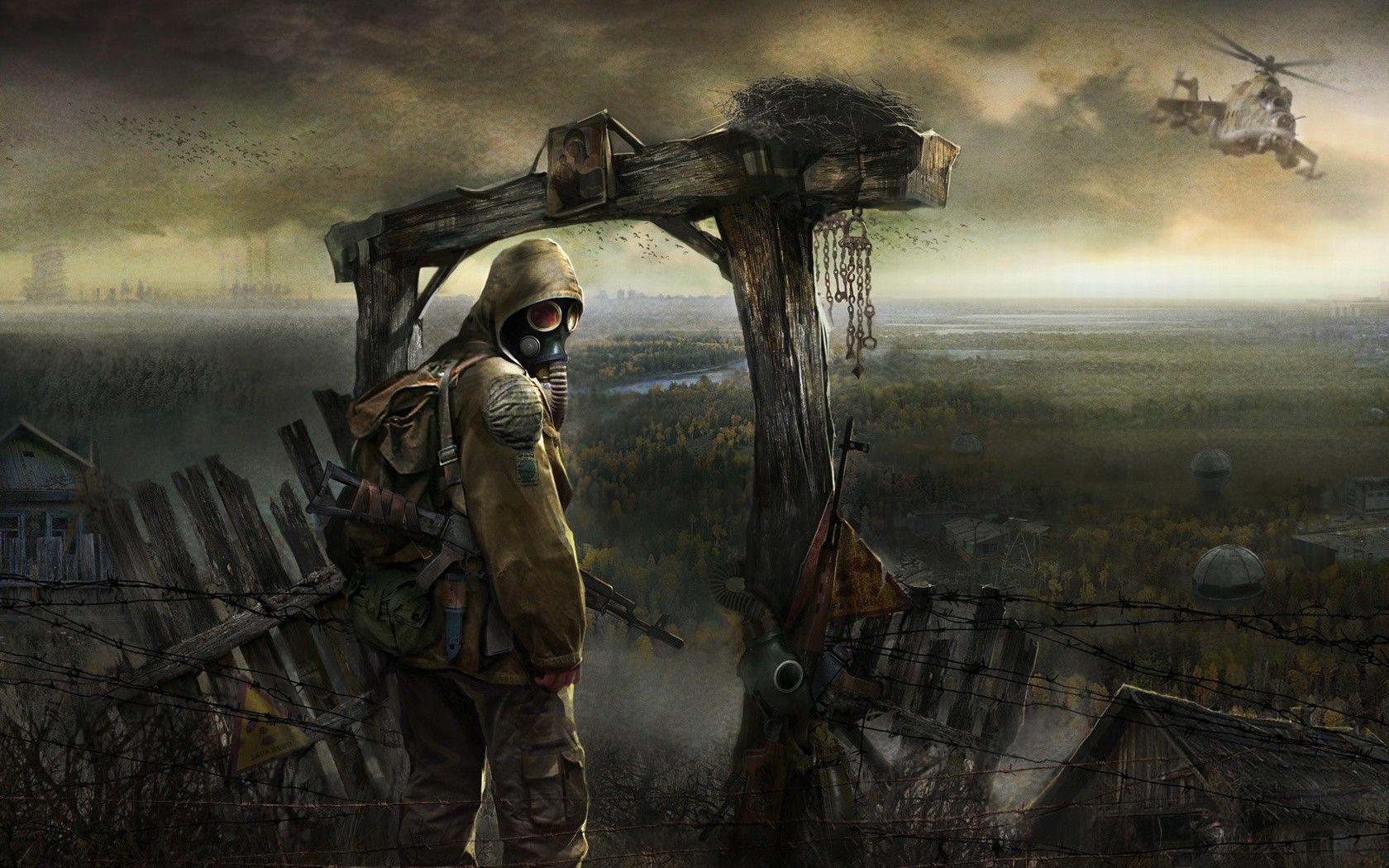 apocalyptic, video games, Ukraine, artwork, gas masks