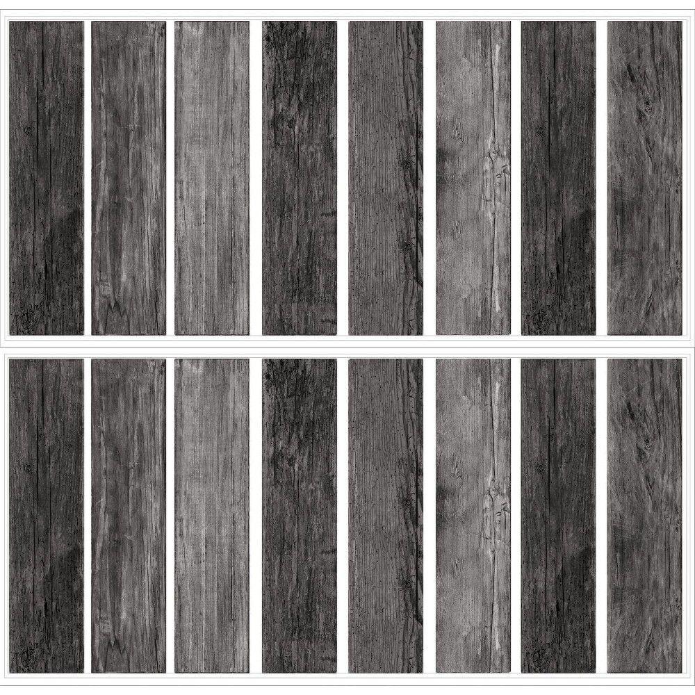 Roommates Distressed Barn Wood Plank Peel And Stick Giant Wall Decals Black Wood Plank Walls Barn Wood Ship Lap Walls