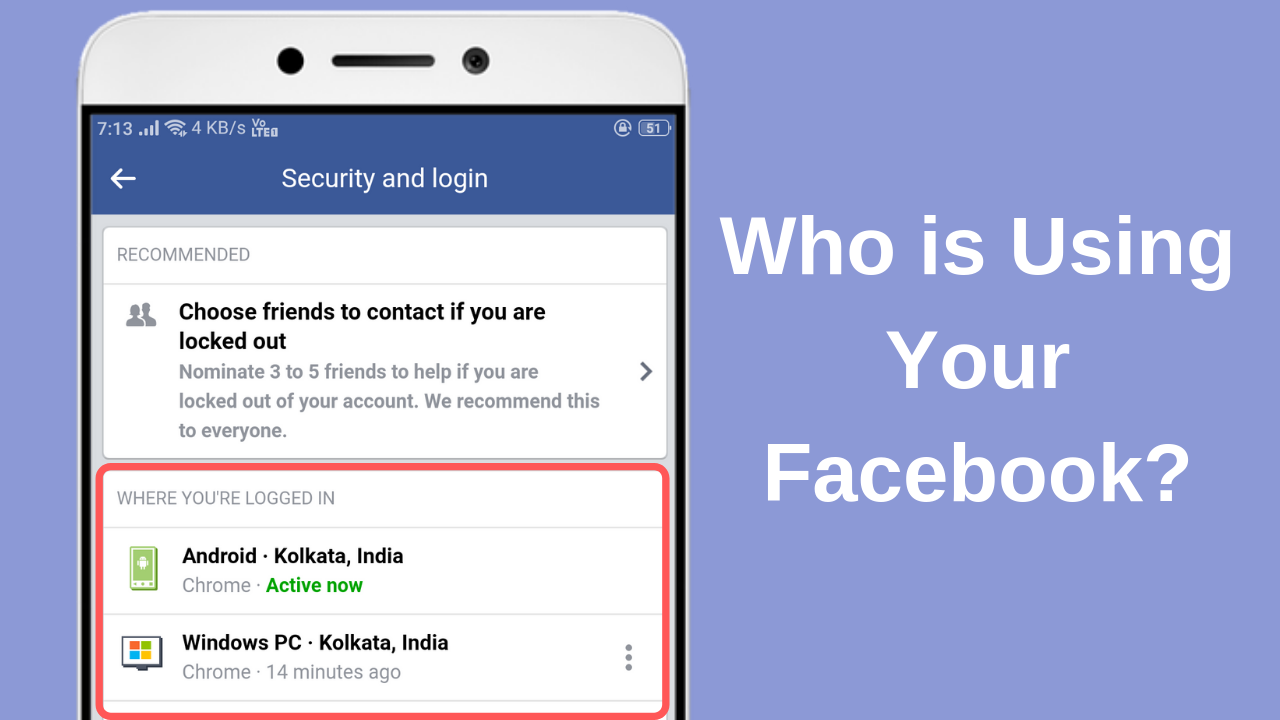 Are suspicious that someone is logging into your Facebook