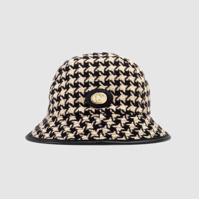 2020 Gucci Houndstooth Fedora Hat Fedora Hat Gucci Knit Hat Gucci Hat