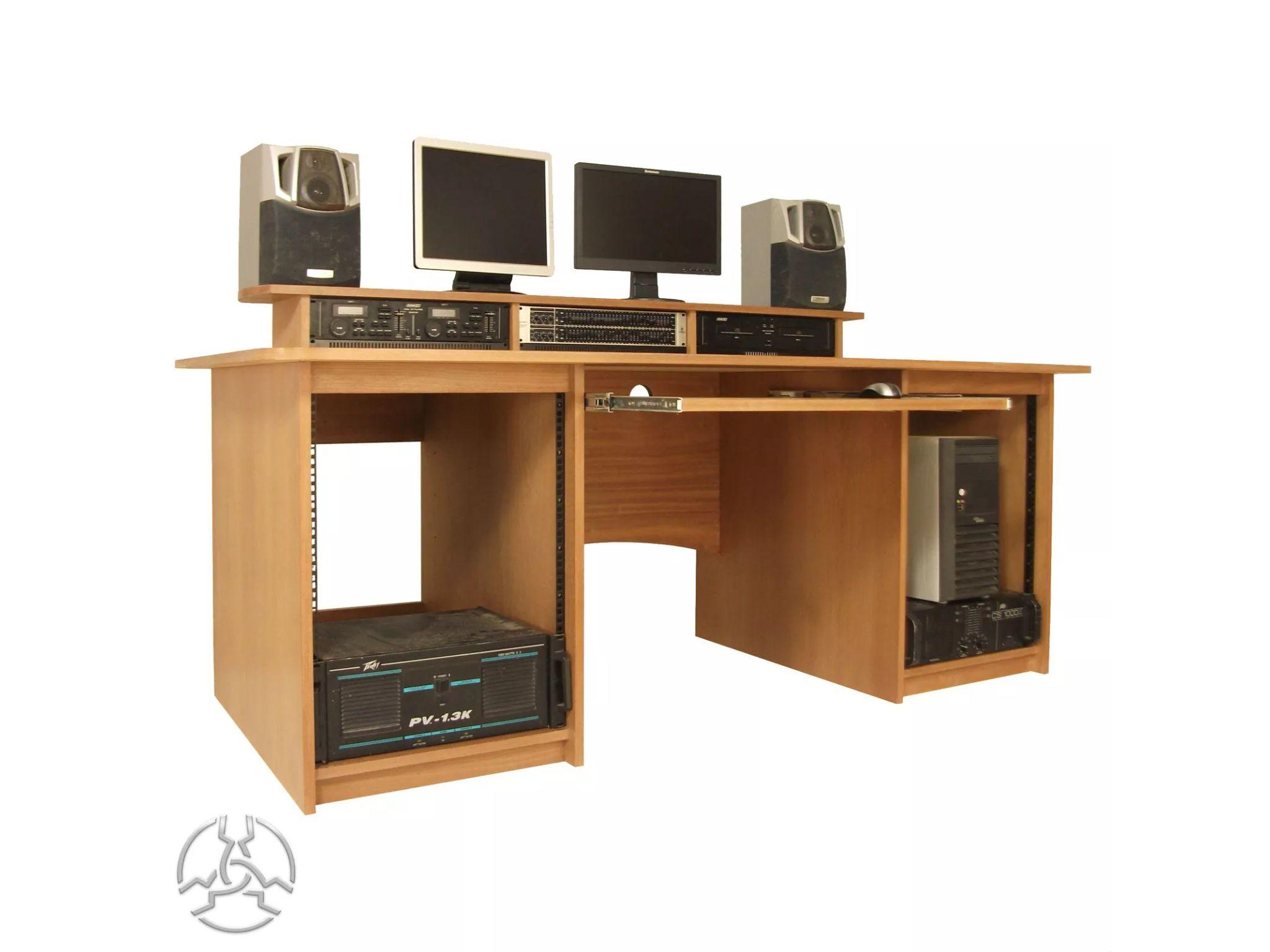 Recording Set Up Oak Computer Desk Wood Computer Desk Corner