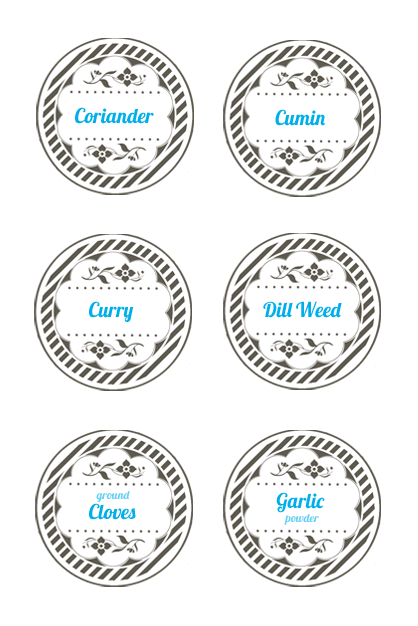 Spice jar lid labels mason jar label templates spice jar labels spice jar lid labels mason jar label templates maxwellsz