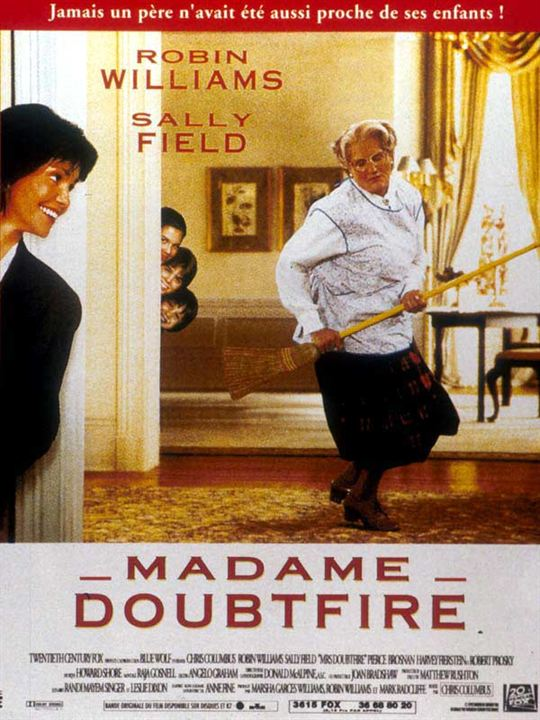 Robin Williams In Mrs Doubtfire 1993 Madame Doubtfire Robin Williams Mrs Doubtfire Movie