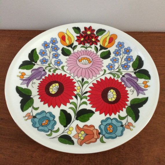 Kalocsa Hungary collectors plate porcelain plate by Callaina, $32.00
