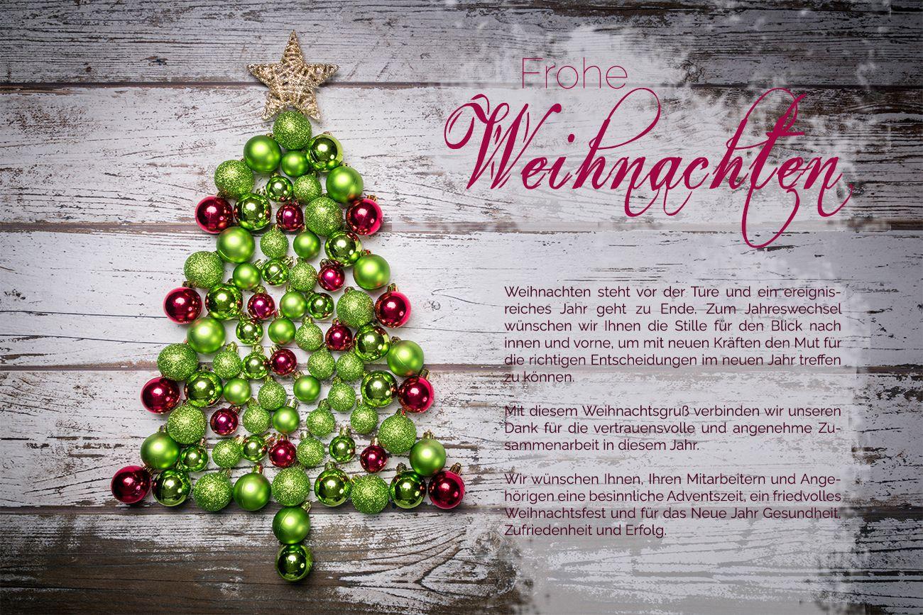glänzende Weihnachts- eCard, geschäftlich, ohne Werbung