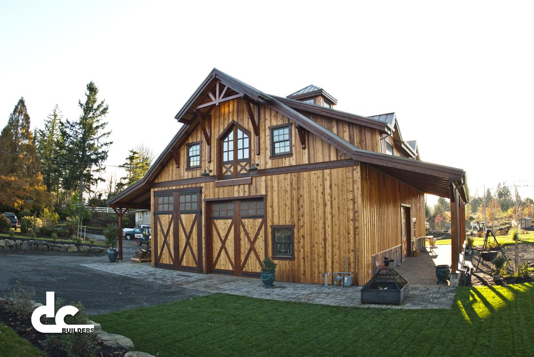 Barn living pole quarter with metal buildings barn with for Custom barn homes