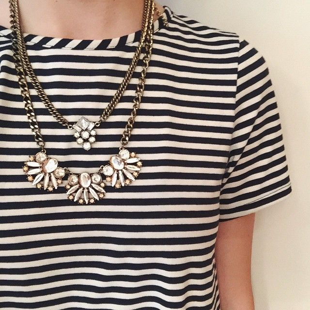 mixed necklaces #ootd