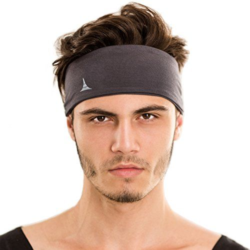 79909a2dd39 Sporty Touch 4 Wide Men Headband Sweatband Best for Sports Running Workout  Yoga Elastic Hair Band Ultimate Athletic Performance     Check this awesome  ...