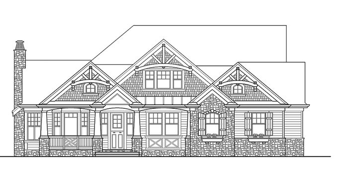 Home Plans HOMEPW05361 - 3,020 Square Feet, 3 Bedroom 3 Bathroom Traditional Home with 2 Garage Bays