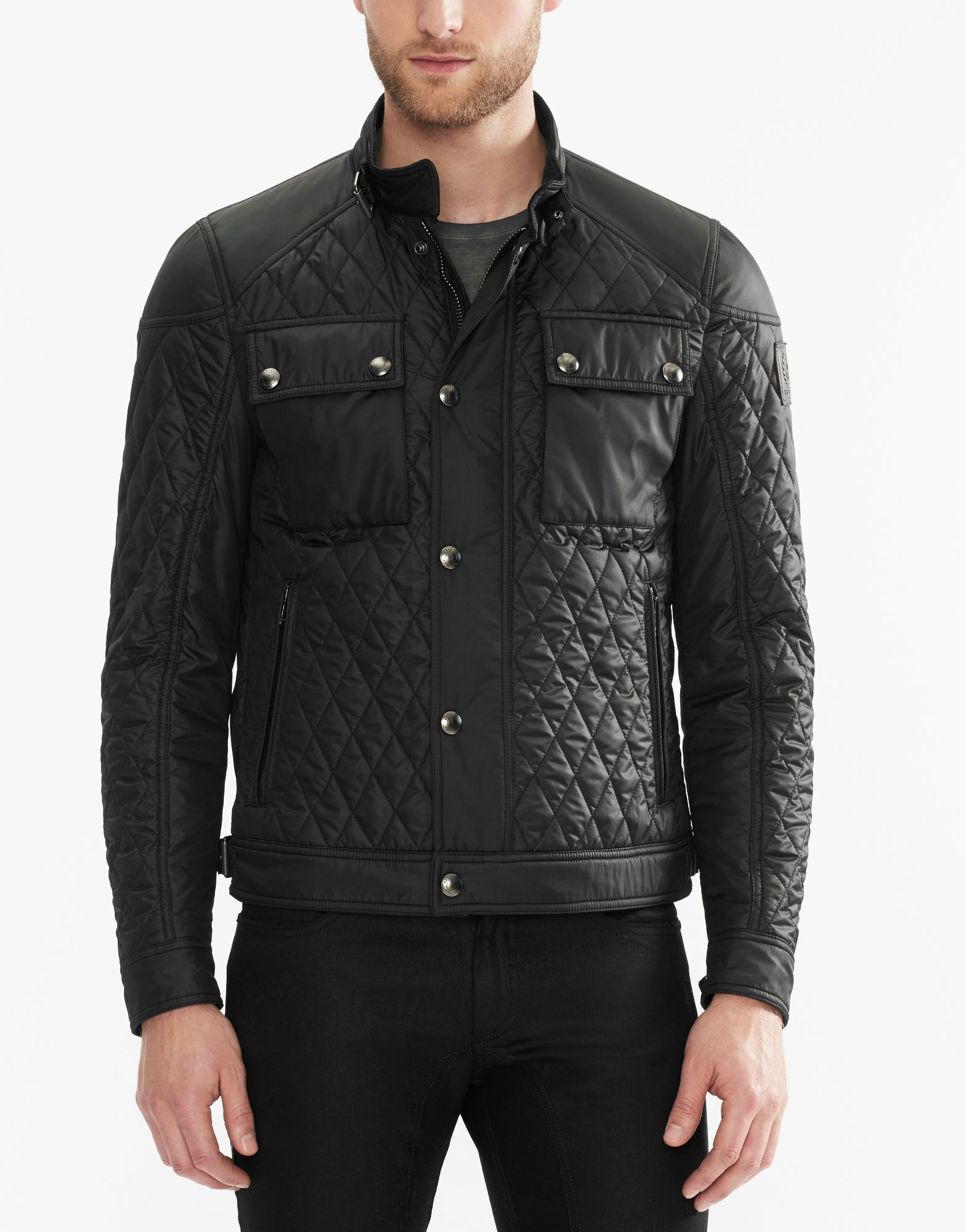3bbd1c884 Belstaff - Racemaster Quilt - In Black Technical Quilt | Belstaff in ...