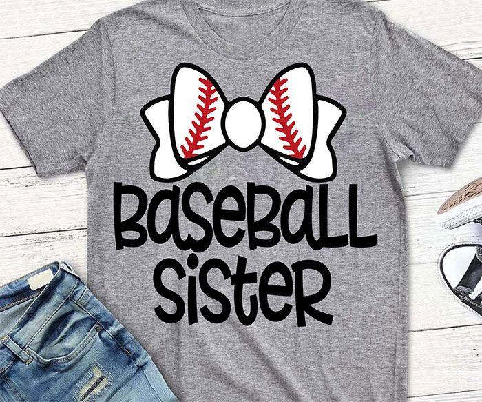 Photo of Baseball Sister Svg, Little Sister Svg, Baseball Svg Baseball Shirt Svg, Svg File For Cricut Silhouette | Misskyliedesign Unicorn Mermaid School Baseball SVG