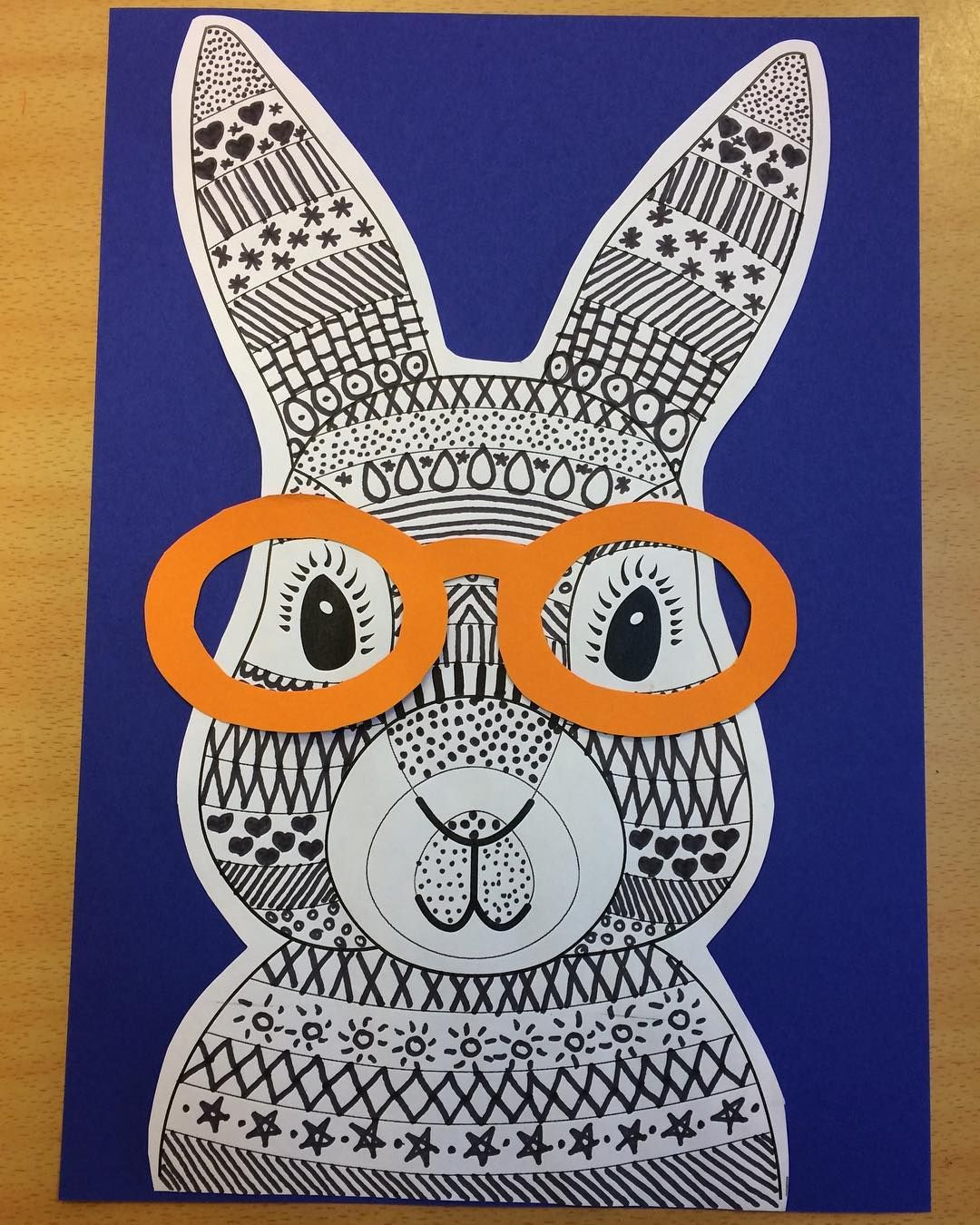 Funky Easter Bunny Craft Template Bunny Crafts Easter Art