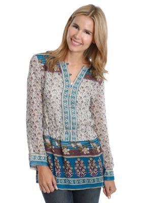 Lucky Brand  Gypsy Print Top