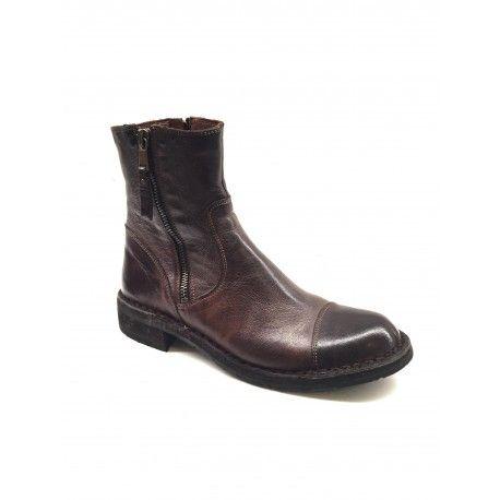f0be26fd4cc Bubetti - støvler i vasket brun med lynlåse i begge sider   I ...