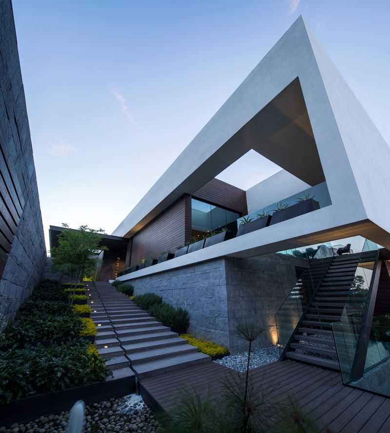 MT House: Sleek Modern Home with Views of the City in Monterrey, Mexico