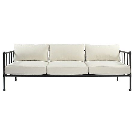Fernhill Metal Patio Sofa Linen Threshold Landscaping Metal