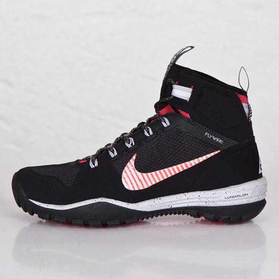 Nike Lunar Incognito Mid Black Metallic Silver Laser Crimson Black Metallic Nike Lunar Sneakers Men
