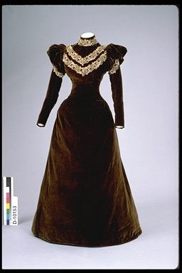 489aca3c3f961 1890-1895 day dress cut on princess lines; boned and fully lined ...