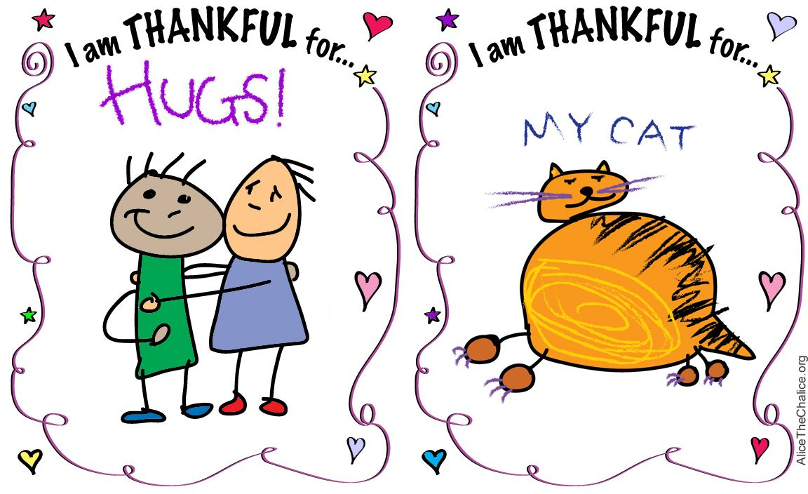 """""""I am THANKFUL for…"""" This openended activity page allows"""