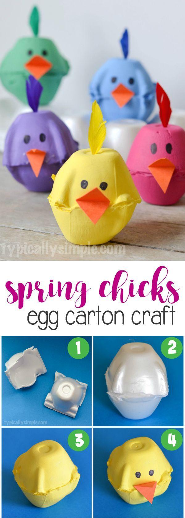 Spring Chicks Egg Carton Craft