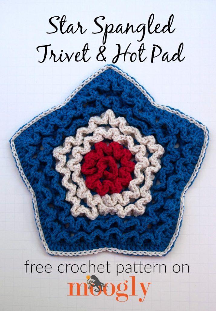 Famoso Trivet Patrones De Crochet Libre Fotos - Manta de Tejer ...