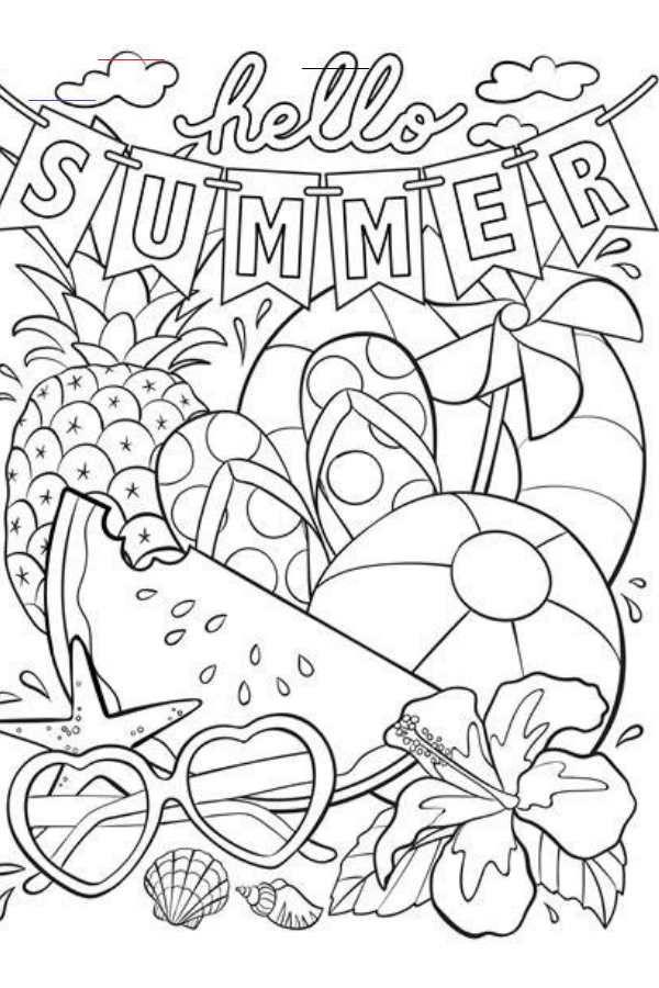 Coloringsheets Ausmalbilder Ausmalbilder Sommer Ausmalen