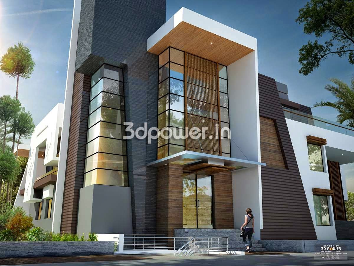 We are expert in designing 3d ultra modern home designs for Modern exterior design ideas